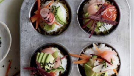 BOSH! Sushi Cupcakes featured by Mercy for Animals