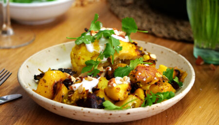Anna's Curry Coconut Cauliflower with CoppaFeel!