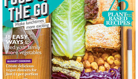 BOSH! on the front cover of Vegan Food and Living